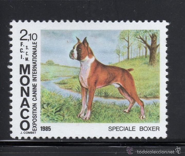 MONACO 1985 IVERT 1477 *** EXPOSICIÓN CANINA INTERNACIONAL MONTECARLO - PERROS - FAUNA (Sellos - Extranjero - Europa - Mónaco)