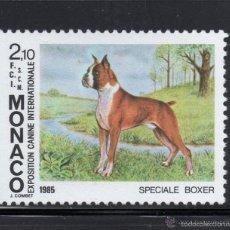 Timbres: MONACO 1985 IVERT 1477 *** EXPOSICIÓN CANINA INTERNACIONAL MONTECARLO - PERROS - FAUNA. Lote 56128226