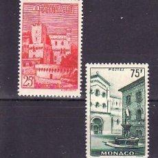 Sellos: MONACO 1954 IVERT 397/8 *** VISTAS DEL PRINCIPADO. Lote 56567596