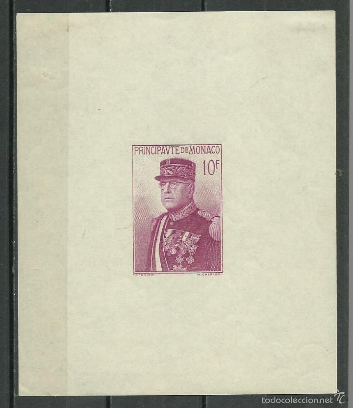 HOJA BLOQUE Nº 1 DE MONACO DE 1938 NUEVA CON CHARNELA EN LA PARTE SUPERIOR DE LA HOJA VER FOTOS (Sellos - Extranjero - Europa - Mónaco)
