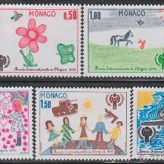 Sellos: MONACO 1979 IVERT 1181/5 *** AÑO INTERNACIONAL DEL NIÑO - DIBUJOS INFANTILES. Lote 58146572
