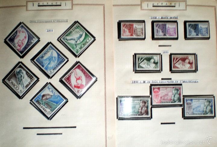 Sellos: BONITO RESTO DE COLECCIÓN DE MONACO DE 1891 A 1968,SERIES NUEVAS Y USADAS + AEREOS EN HOJAS DE ALBUM - Foto 5 - 58233453