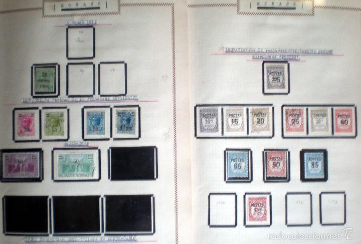 Sellos: BONITO RESTO DE COLECCIÓN DE MONACO DE 1891 A 1968,SERIES NUEVAS Y USADAS + AEREOS EN HOJAS DE ALBUM - Foto 7 - 58233453