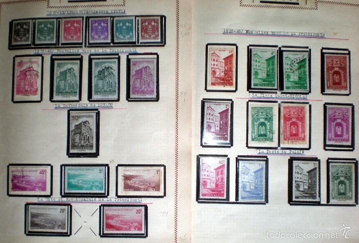 Sellos: BONITO RESTO DE COLECCIÓN DE MONACO DE 1891 A 1968,SERIES NUEVAS Y USADAS + AEREOS EN HOJAS DE ALBUM - Foto 9 - 58233453