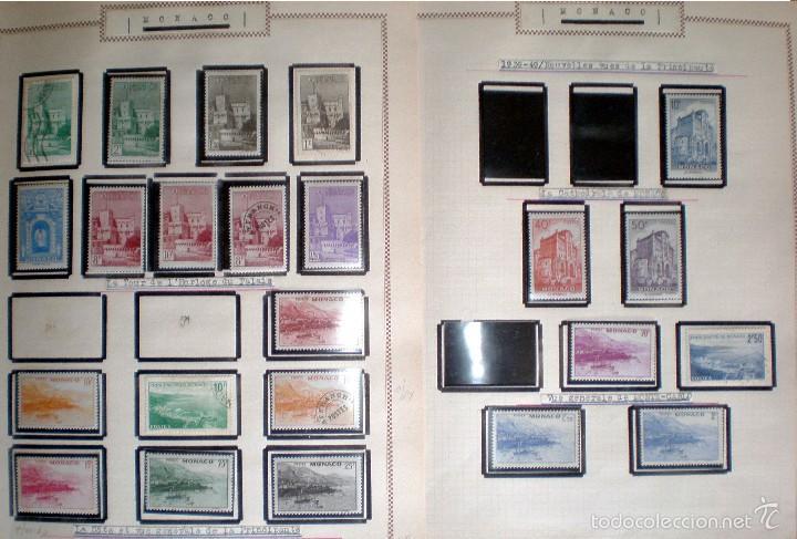 Sellos: BONITO RESTO DE COLECCIÓN DE MONACO DE 1891 A 1968,SERIES NUEVAS Y USADAS + AEREOS EN HOJAS DE ALBUM - Foto 10 - 58233453