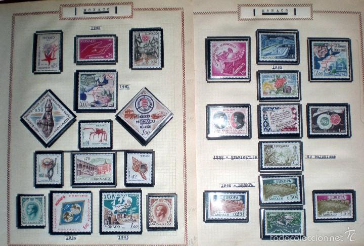 Sellos: BONITO RESTO DE COLECCIÓN DE MONACO DE 1891 A 1968,SERIES NUEVAS Y USADAS + AEREOS EN HOJAS DE ALBUM - Foto 12 - 58233453