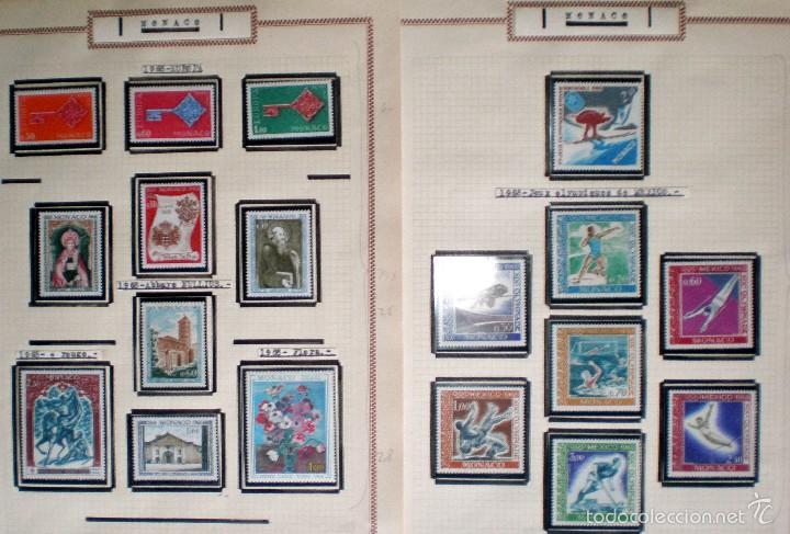 Sellos: BONITO RESTO DE COLECCIÓN DE MONACO DE 1891 A 1968,SERIES NUEVAS Y USADAS + AEREOS EN HOJAS DE ALBUM - Foto 18 - 58233453