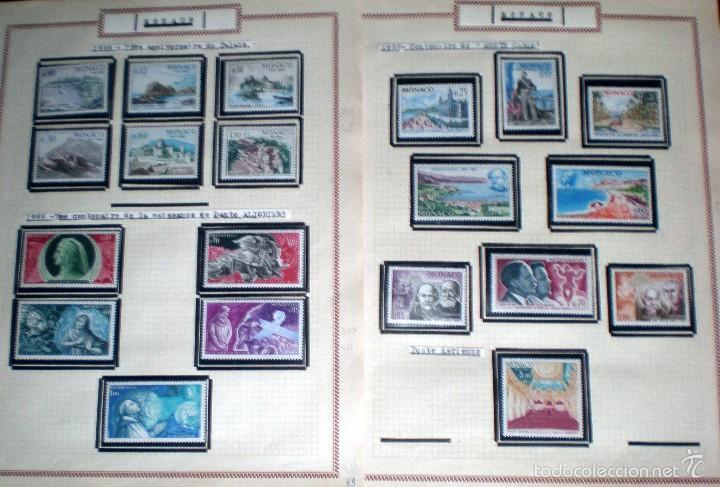 Sellos: BONITO RESTO DE COLECCIÓN DE MONACO DE 1891 A 1968,SERIES NUEVAS Y USADAS + AEREOS EN HOJAS DE ALBUM - Foto 20 - 58233453