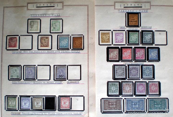 Sellos: BONITO RESTO DE COLECCIÓN DE MONACO DE 1891 A 1968,SERIES NUEVAS Y USADAS + AEREOS EN HOJAS DE ALBUM - Foto 22 - 58233453