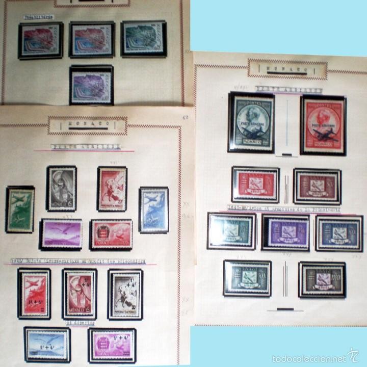 Sellos: BONITO RESTO DE COLECCIÓN DE MONACO DE 1891 A 1968,SERIES NUEVAS Y USADAS + AEREOS EN HOJAS DE ALBUM - Foto 24 - 58233453