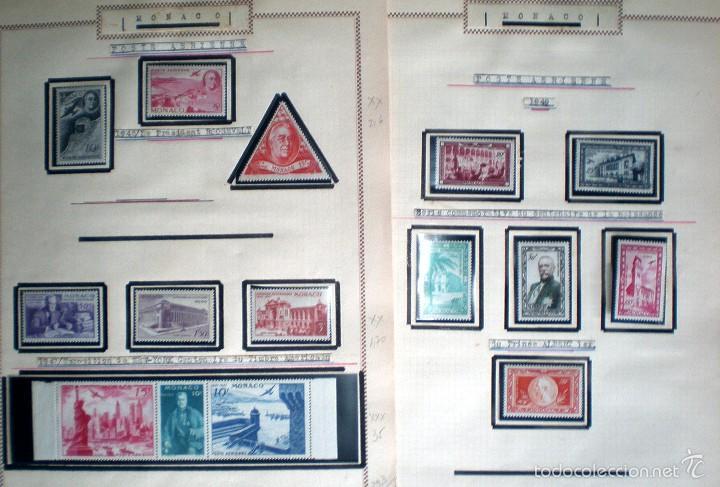 Sellos: BONITO RESTO DE COLECCIÓN DE MONACO DE 1891 A 1968,SERIES NUEVAS Y USADAS + AEREOS EN HOJAS DE ALBUM - Foto 25 - 58233453