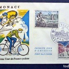 Sellos: SOBRE DEL PRIMER DIA CINCUENTENARIO DEL TOUR DE FRANCIA, AÑO 1963. Lote 61988056