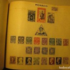 Sellos: LAMINA CON SELLOS ANTIGUOS DE MONACO. Lote 64298867