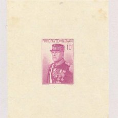 Sellos: MONACO, 1938, HOJA 15 ANIVERSARIO LUIS II, MNH, ALGUNAS MANCHITAS, ALTO VALOR DE CATALOGO. Lote 72726079