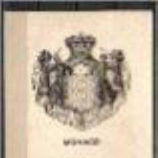 Timbres: TARJETA CON ESCUDO DE ARMAS MÓNACO. FECHA 17-1-1944. Lote 82270980