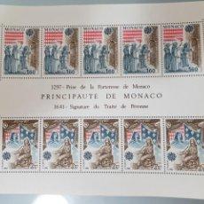 Sellos: 10X SELLOS MONACO HOJITA BLOQUE 1982 EUROPA. Lote 213855677