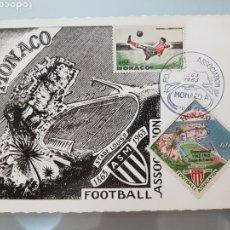 Sellos: SELLOS POSTAL MÓNACO 1863-1963 FOOTBALL ASSOCIATION. Lote 97199024