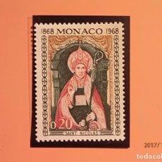 Sellos: MONACO 1968 - CENTENARIO ABADIA NULLIUS DIOCESIS - SAINT NICOLAS - SANTA CLAUS - NUEVO.. Lote 99742823