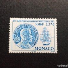 Sellos: MONACO Nº YVERT 2307*** AÑO 2001. 30 ANIVERSARIO GRAN PREMIO DE OCEANOGRAFIA PRINCIPE ALBERTO. Lote 103540327