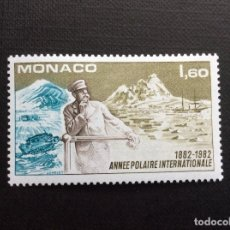 Sellos: MONACO Nº YVERT 1355*** AÑO 1982. CENTENARIO PRIMER AÑO POLAR INTERNACIONAL. Lote 103540867