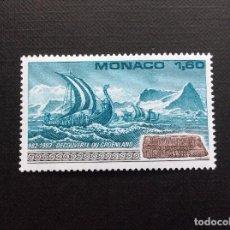 Sellos: MONACO Nº YVERT 1356*** AÑO 1982. MILENARIO DESCUBRIMIENTO DE GROENLANDIA, POR ERIK EL ROJO. Lote 103541051