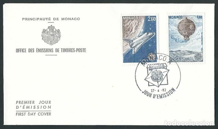 MONACO SOBRE DE PRIMER DÍA 27-4-83 (Sellos - Extranjero - Europa - Mónaco)