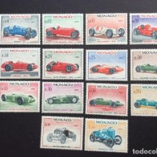 Sellos: MONACO Nº YVERT 708/21*** AÑO 1967. AUTOMOVILES DE F-1. Lote 107050807