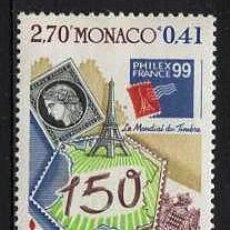 Sellos: MONACO - EXPO PHILEXFRANCE / 150 ANIV. PRIMER SELLO FRANCES (1999) **. Lote 114925055