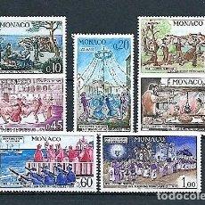Francobolli: MÓNACO,1973,CINCUENTENARIO DEL COMITÉ NACIONAL DE TRADICIONES MONEGASCAS,NUEVOS,MNH**,YVERT 939-945. Lote 130649723