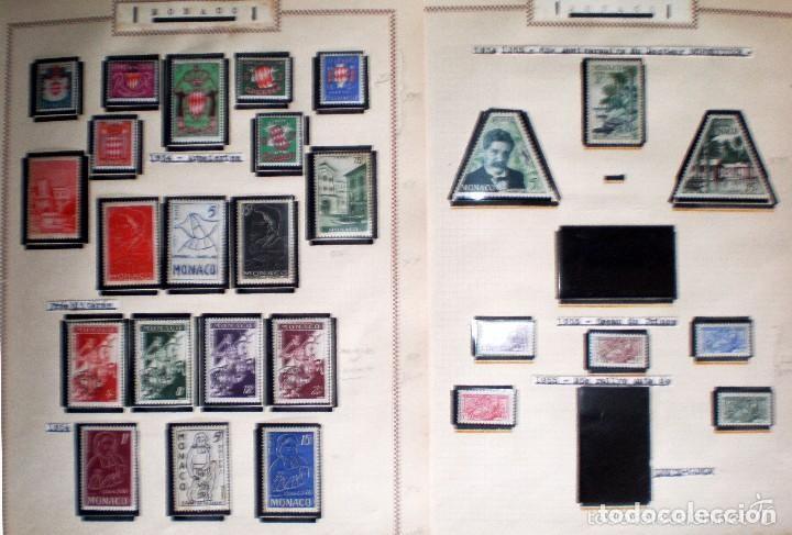 Sellos: BONITO RESTO DE COLECCIÓN DE MONACO DE 1891 A 1968,SERIES NUEVAS Y USADAS + AEREOS EN HOJAS DE ALBUM - Foto 11 - 140776166