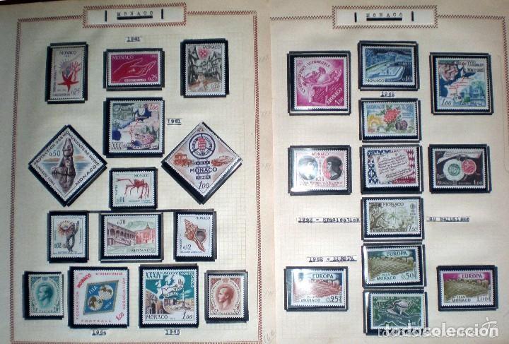 Sellos: BONITO RESTO DE COLECCIÓN DE MONACO DE 1891 A 1968,SERIES NUEVAS Y USADAS + AEREOS EN HOJAS DE ALBUM - Foto 13 - 140776166