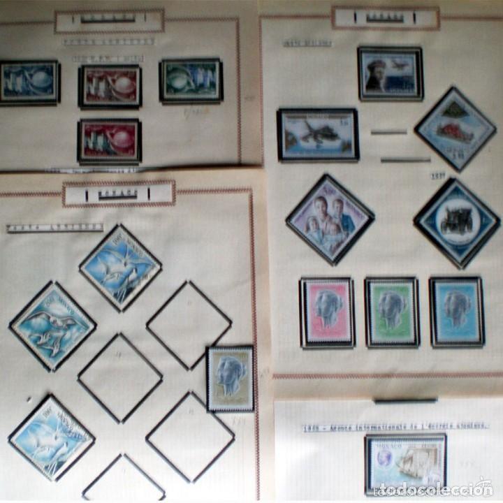 Sellos: BONITO RESTO DE COLECCIÓN DE MONACO DE 1891 A 1968,SERIES NUEVAS Y USADAS + AEREOS EN HOJAS DE ALBUM - Foto 19 - 140776166