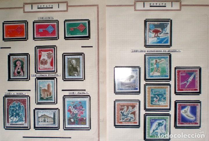 Sellos: BONITO RESTO DE COLECCIÓN DE MONACO DE 1891 A 1968,SERIES NUEVAS Y USADAS + AEREOS EN HOJAS DE ALBUM - Foto 20 - 140776166