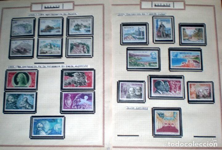 Sellos: BONITO RESTO DE COLECCIÓN DE MONACO DE 1891 A 1968,SERIES NUEVAS Y USADAS + AEREOS EN HOJAS DE ALBUM - Foto 22 - 140776166