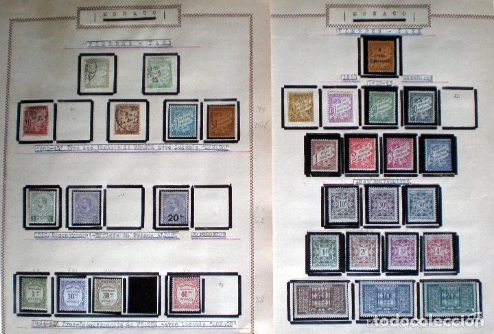 Sellos: BONITO RESTO DE COLECCIÓN DE MONACO DE 1891 A 1968,SERIES NUEVAS Y USADAS + AEREOS EN HOJAS DE ALBUM - Foto 24 - 140776166