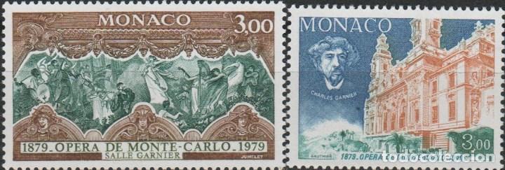 LOTE 1 SELLOS MONACO TEATRO MONTECARLO ALTO VALOR (Sellos - Extranjero - Europa - Mónaco)