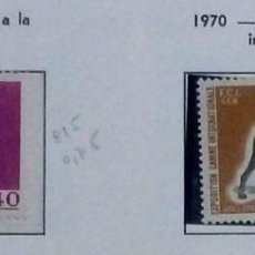 Sellos: MONACO 1970-NUEVO-2 SELLOS-EXP. CANINA. Lote 142847258