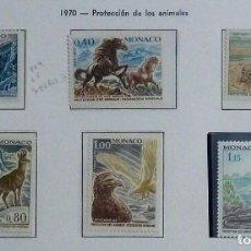 Sellos: MONACO 1970- NUEVO,COMPLETA-PROTECCION NATURALEZA. Lote 142847374