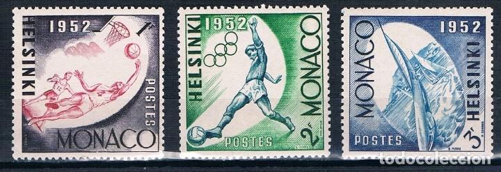 MONACO 1953 YVERT 386 A 388 MH* /MHN** VER (Sellos - Extranjero - Europa - Mónaco)