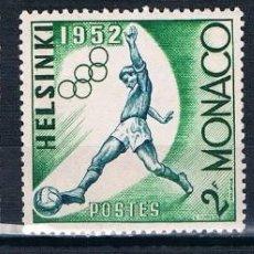 Sellos: MONACO 1953 YVERT 386 A 388 MH* /MHN** VER. Lote 144663574