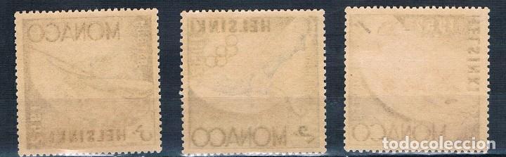 Sellos: MONACO 1953 YVERT 386 a 388 MH* /MHN** VER - Foto 2 - 144663574