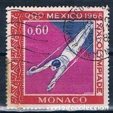 Sellos: MONACO 1968 YVERT 738 USADO. Lote 144665070