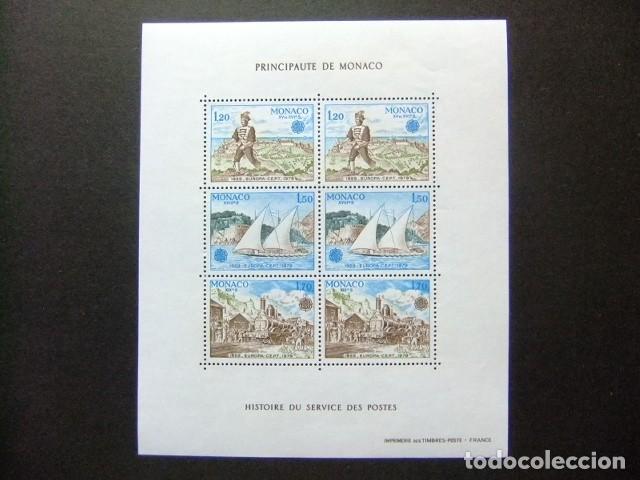 MONACO 1979 EUROPA CEPT HISTORIA DEL SERVICIO DE CORREOS YVERT BLOC 17 ** MNH (Sellos - Extranjero - Europa - Mónaco)
