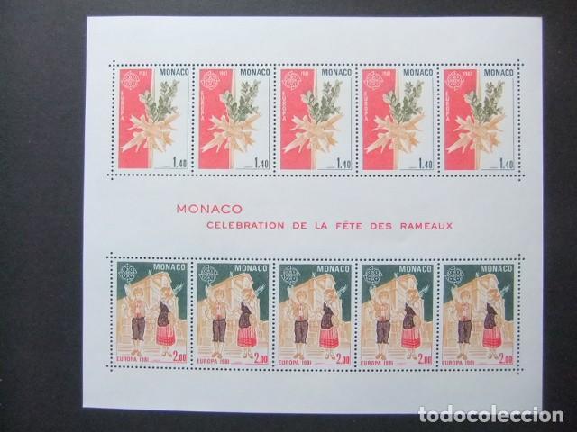 MONACO 1981 EUROPA CEPT CELEBRATION DE LA FÊTE DES RAMEAUX YVERT BLOC 19 ** MNH (Sellos - Extranjero - Europa - Mónaco)