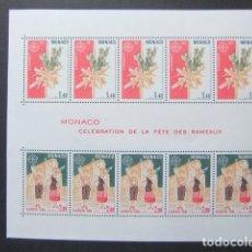 Sellos: MONACO 1981 EUROPA CEPT CELEBRATION DE LA FÊTE DES RAMEAUX YVERT BLOC 19 ** MNH. Lote 147059118