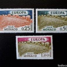 Sellos: MÓNACO. YVERT 571/3 SERIE COMPLETA NUEVA SIN CHARNELA. EUROPA CEPT. AGRICULTURA. Lote 147568993