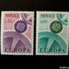 Sellos: MÓNACO. YVERT 729/30 SERIE COMPLETA NUEVA SIN CHARNELA. EUROPA CEPT. Lote 147569882