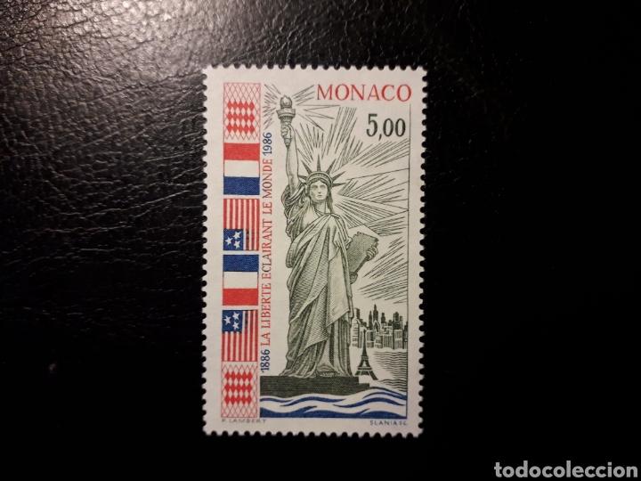 MÓNACO. YVERT 1535 SERIE COMPLETA NUEVA SIN CHARNELA. ESTATUA DE LA LIBERTAD. BANDERAS (Sellos - Extranjero - Europa - Mónaco)