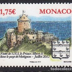 Sellos: MONACO 2012 VISITA PRINCIPESCA AL PAIS DE MATIGNON. Lote 148484414