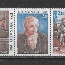 Sellos: MONACO 1981 ** MNH MUSICA MOZART - 189. Lote 149610938